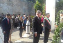 cerimonia ossario slavo e momento di incontro a palazzo di città