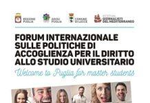 locandina forum internazionale su accoglienza e diritto allo studio universitario