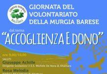 locandina giornata del volontariato della murgia barese 2019 - accoglienza e dono