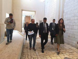 sopralluogo sindaco nuove sale museo archeologico santa scolastica