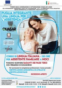 volantino educazione linguistica per assistenti familiari