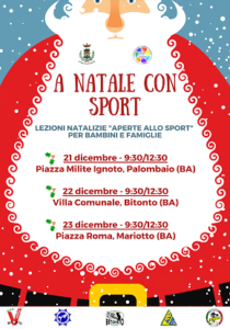 locandina 'a natale con sport'