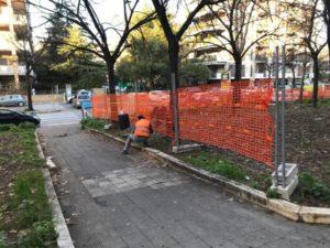 avviati i lavori di riqualificazione del giardino in viale Kennedy