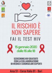 locandina test salivare hiv gratuito