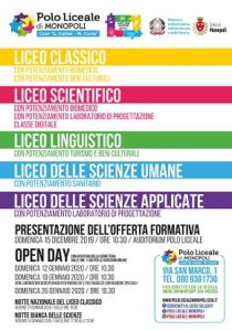 manifesto open day e iscrizioni 2020 - 2021