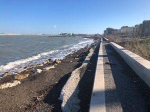 sopralluogo dell'assessore galasso sul waterfront di san girolamo dopo le mareggiate