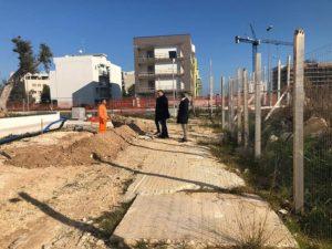 ultimazione lavori viabilità nei pressi degli alloggi arca puglia a sant'anna