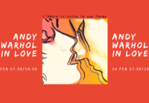 banner 'andy warhol in love'