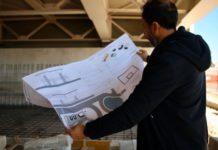 lavori fondazioni skatepark del playground sotto il ponte adriatico