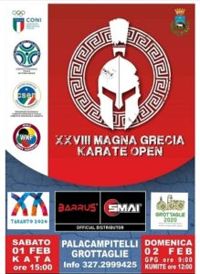 locandina 28esima coppa magna grecia karate