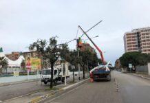 lavori per nuovo impianto di illuminazione a poggiofranco