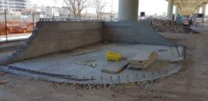 lo skate park del ponte adriatico prende forma realizzate le prime rampe