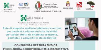 attivo numero per consulenze mediche telefoniche rivolte a pazienti con disabilità - locandina