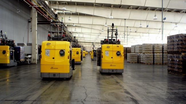 automated laser guided vehicle