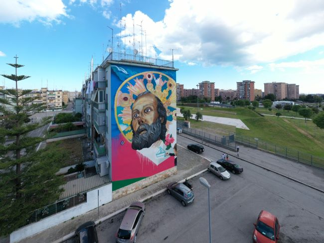 luci sul santo - murales roselli
