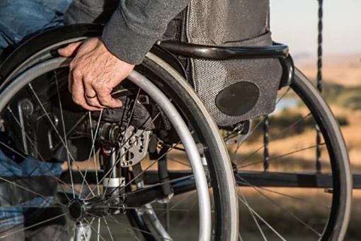 disabile in carrozzina