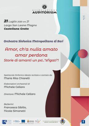 locandina castellana grotte, concerto della orchestra sinfonica città metropolitana