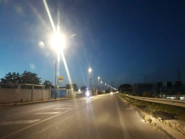 nuova illuminazione via nazionale a santo spirito