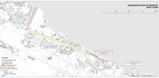 progetto itinerario ciclopedonale strada del baraccone_planimetria stato di progetto