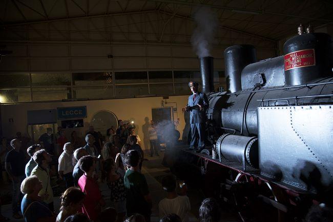 visita teatralizzata al museo ferroviario