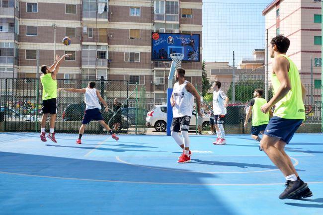 inaugurati 2 campi da basket in gomma riciclata realizzati da Ecopneus con pfu