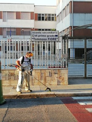 interventi di sfalcio erbe infestanti - amiu inizia dalle aree adiacenti alle scuole