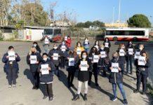 flash mob kyma mobilità no violenza donne
