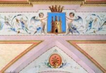 affresco con stemma castellana grotte
