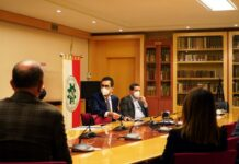 la sala consiglio sede dell'incontro con i rappresentanti di arpa puglia