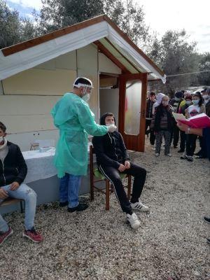 tamponi rapidi nel campo rom di japigia