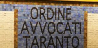 mosaico ordine avvocati taranto in aula miro - marco amatimaggio