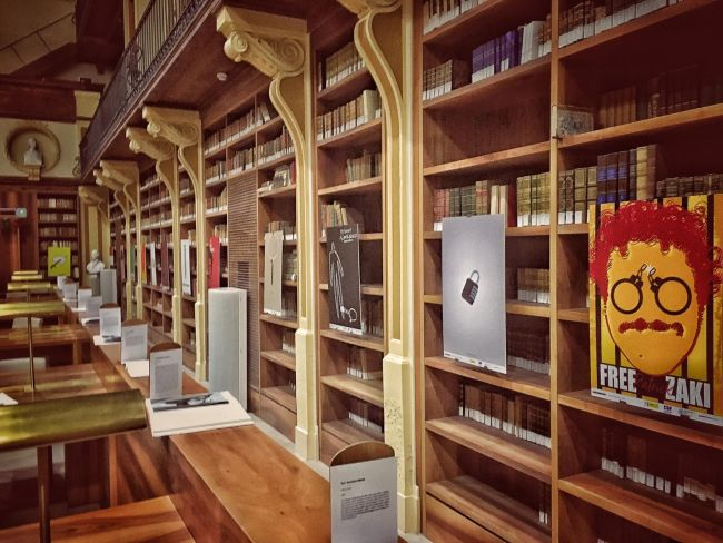 free patrick zaki - biblioteca bernarndini - foto daniele coricciati