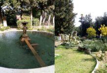 fontana e vialetto giordino ospedale militare