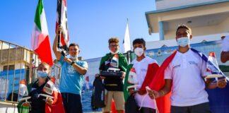 il podio mondiale o'pen skiff under 17