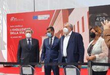 il sindaco decaro all'inaugurazione del nuovo fronte della stazione sull'extramurale capruzzi