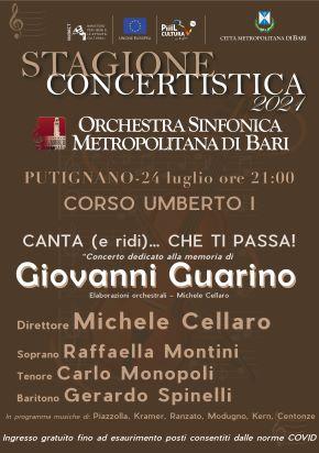 locandina orchestra sinfonica metropolitana di bari a putignano