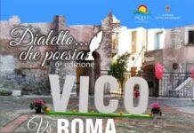 locandina vico dialetto che poesia disfida vico-roma