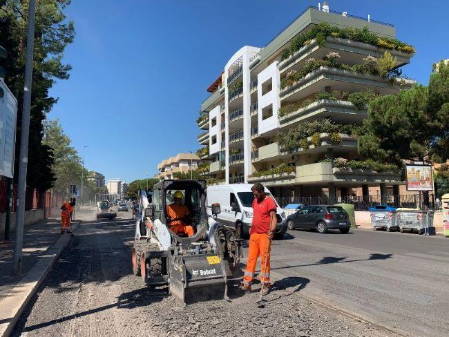 al via i lavori di rifacimento del manto stradale in viale einaudi