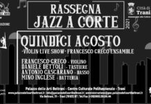 locandina orizzontale jazz a corte, violin live show con francesco greco ensemble