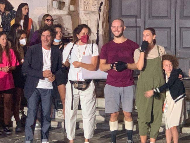 domenico galluzzi all'evento in piazza san nicola