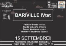locandina bariville IVtet con fabrizio bosso, 15 settembre palazzo delle arti beltrani