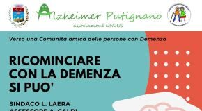 locandina incontro ricominciare con la demenza si può alzheimer putignano 2021