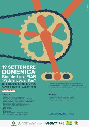 locandina settimana europea della mobilità sostenibile - biciclettata fiab