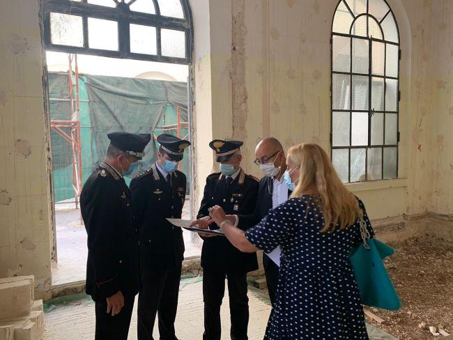 nuovo sopralluogo sul cantiere della caserma carabinieri nella ex manifattura tabacchi